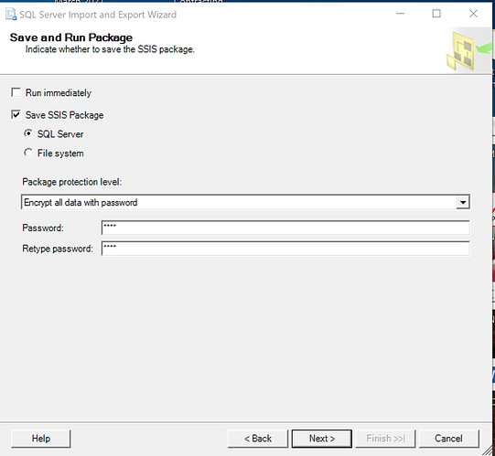 Save SSIS Package