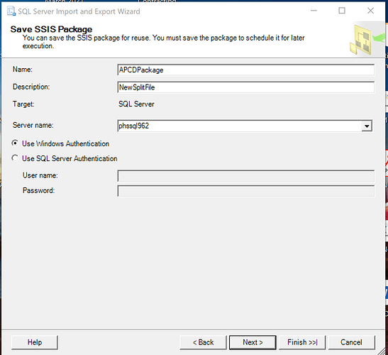 Save SSIS Package 2